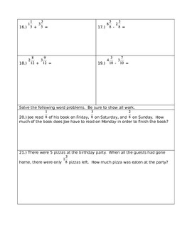 Fractions Checkpoint