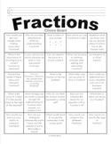 Fractions Choice Board - BINGO Board