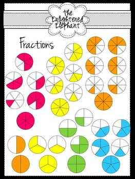 Fractions Circle Clip Art