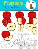 Fractions Clip Art Apple Slice