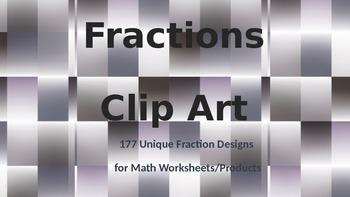 Fractions Clip Art Bundle