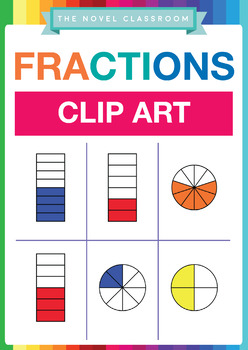 Fractions Clip Art - Full Personal and Commercial License