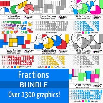 Fractions Clip Art ~ Super Value Bundle