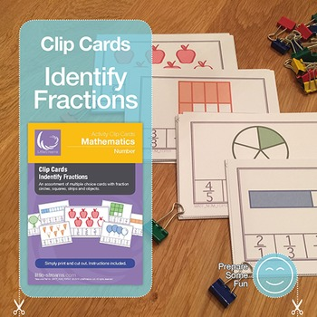 Fractions Clip Cards