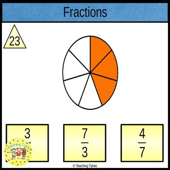 Fractions Clip Task Cards