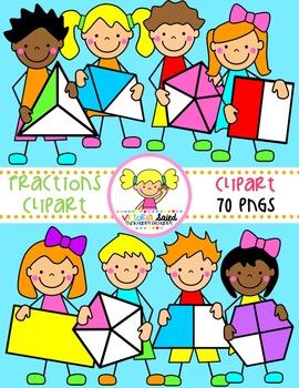 Fractions Clipart {Kids Clipart}