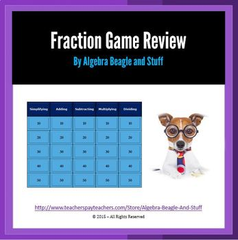 Fractions Collaborative PowerPoint Game Review