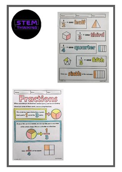 Fractions Doodle Notes Color and Learn Elementary Math
