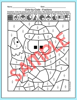 Winter Math Fractions - Penguin Differentiated Math Center - January Activities