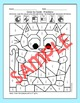 Color by Fractions School Pets Math Worksheets - Owl, Appl