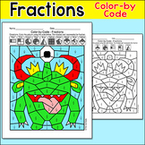 Fractions Color by Code Monster: Morning Work, Early Finishers, Homework
