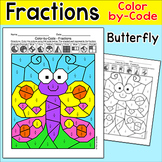 Summer Butterfly Fractions Morning Work - Color by Code