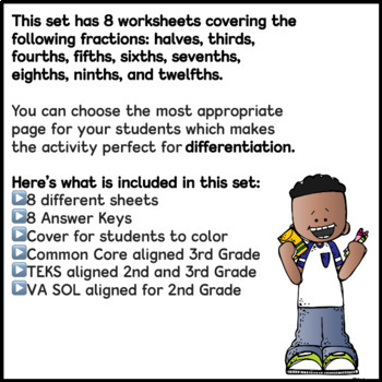 Fractions Color by Code: Early Finishers, Morning Work