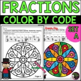 Fractions Color by Code Worksheets