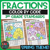 Fractions Color by Code for Spring (3rd Grade Standards)