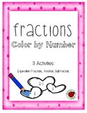 Fractions Color by Number: Equivalent Fractions, Addition,