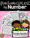 Fractions Color by Number {Includes Equivalent Fraction Ve