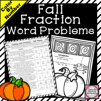 Fractions Color by Solution Fall Theme