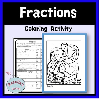 Fractions Coloring Activity