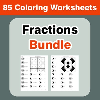 Fractions Coloring Worksheets Bundle