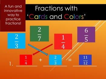 Fractions Colors and Cards