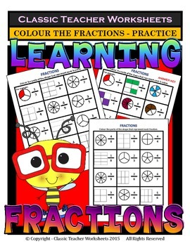 Fractions - Colour the Parts of the Shape that Represent e