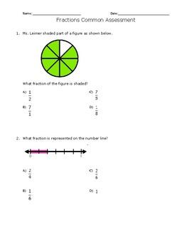 Fractions Common Assessment