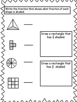 Fractions: Common Core 3rd Grade Fractions Assessment