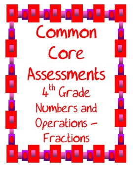 Fractions Common Core Assessments for the 4th Grade
