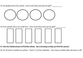 Fractions Common Core Power Pack for Third Grade