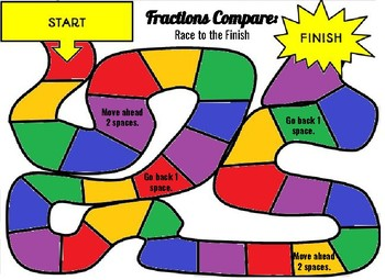 Fractions Compare - Math Board Game