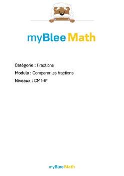 Fractions - Comparer les fractions -CM1-6e