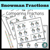 Fractions - Comparing Fractions Complete Set - Snowman/Winter