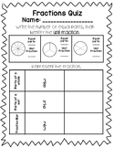 Fractions & Comparing Fractions Quiz