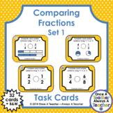 Fraction Task Cards - Comparing Fractions Set 1