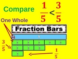Fractions: Comparing Less Than Greater Than with Fraction Bars