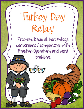 Fractions: Convert/Compare, Mixed Number Ops, Word Problems: Turkey Day Relay