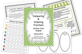 Fractions - Comparing and Ordering Bundle - Common Core Aligned
