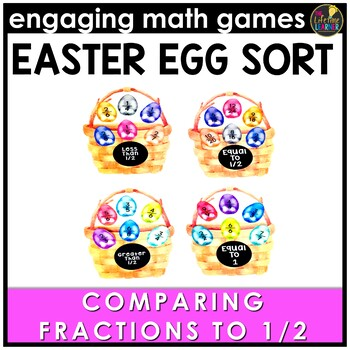 Easter Math Game - Comparing Fractions to 1/2