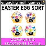 Easter Math Game | Comparing Fractions to 1/2