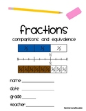 Fractions - Comparisons and Equivalence + Templates