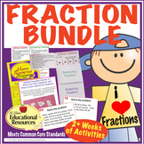 Fractions - Bundled Lessons - Interactive Notebook, Hands-On Learning, & More