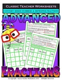 Fractions - Convert Mixed Numbers and Improper Fractions Gr. 5-6 (5th-6th Grade)