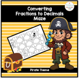 Fractions Converting Fractions to Decimals Maze