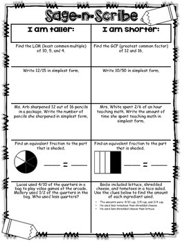 Fractions Cooperative Learning Activities