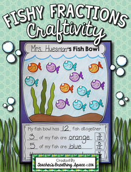 Fractions Craftivity --- Fishy Fractions Fish Bowl