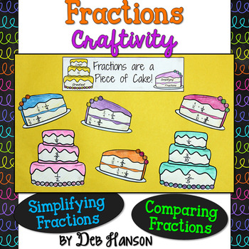 Fractions Craftivity: Simplifying & Comparing Fractions