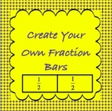 Fractions-Create Your Own Fraction Bar Manipulatives-fractions through 1/12
