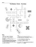 Fractions Crossword
