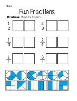 Fractions Cut & Paste